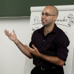 Daniel running a workshop